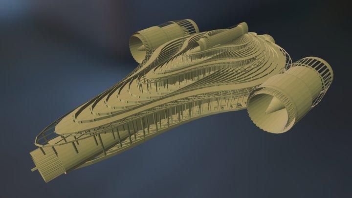 Space Ship 1 3D Model