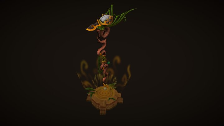 Weapon Staff inspired by World Of Warcraft 3D Model
