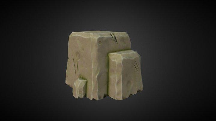 Stylized rock 3D Model