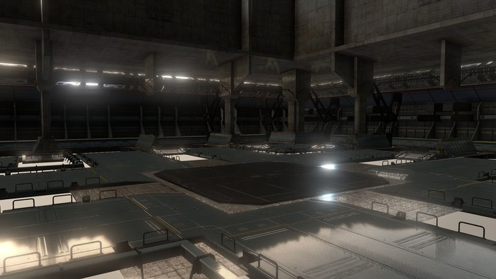 BoT Hangar | 戰鬥泰坦 機庫 3D 模型 3D Model