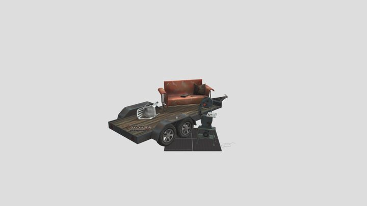 5 Props - Forest Woodcarver 3D Model