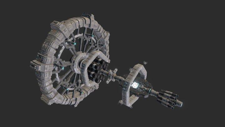 Colonization Ship - UEI OPPORTUNITY 3D Model