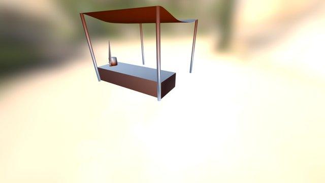 Bancarella Da Mercato 3D Model
