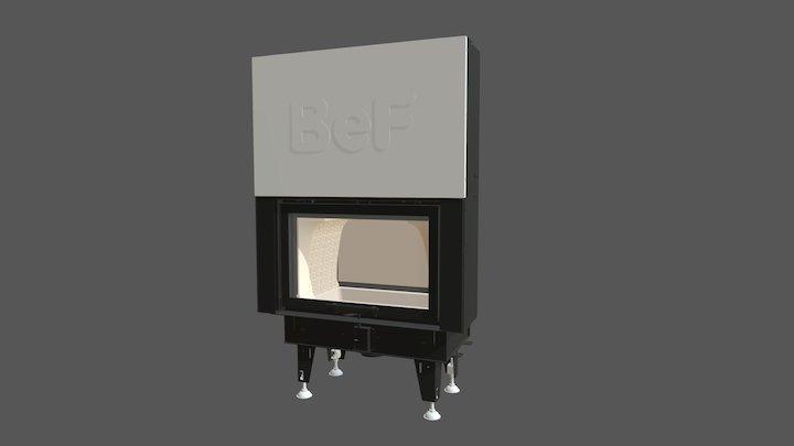 BeF Twin V 8 N II 3D Model