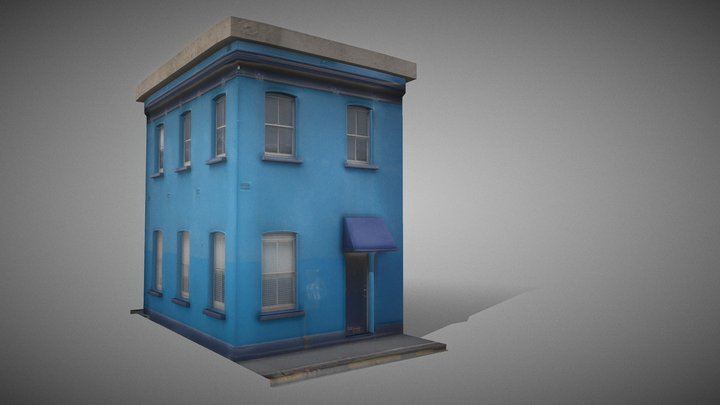 Blue House 3D Model