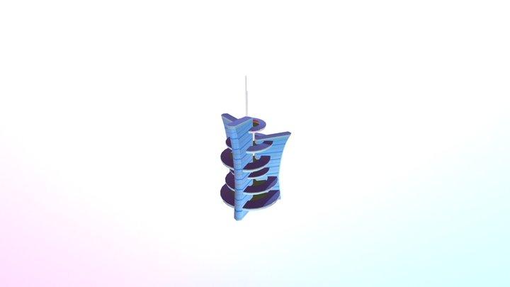 Futuristic Tower 3D Model