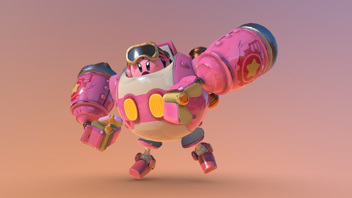 Kirby's Robobot from -  Planet Robobot 3D Model