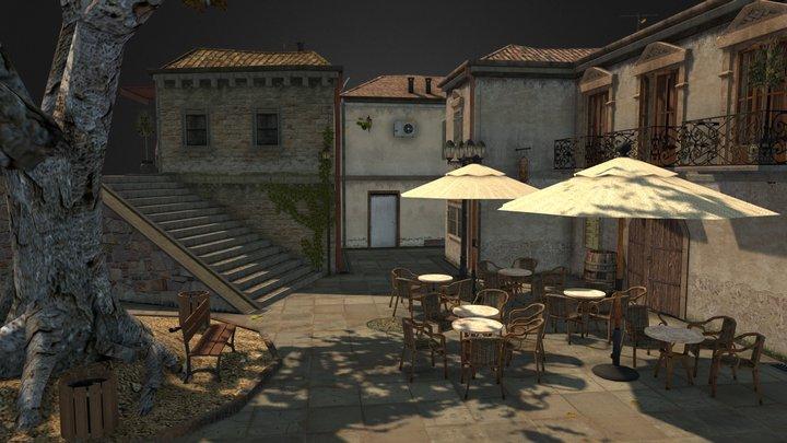 Cityscene: (based) Saint-Guillhem-le-Désert 3D Model