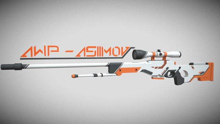 AWP ASIIMOV csgo 3D Model