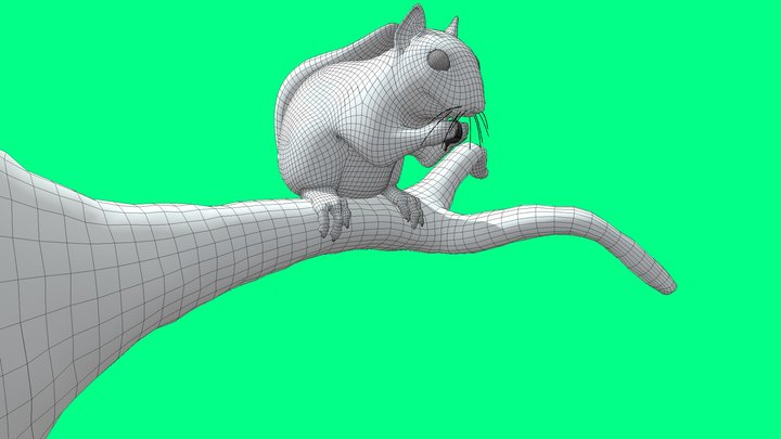 Squirrel Low-poly CULTZONEGames Free low-poly 3D 3D Model