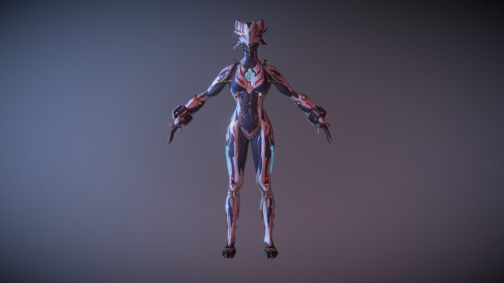Valkyr Mithra (T-Pose) 3D Model