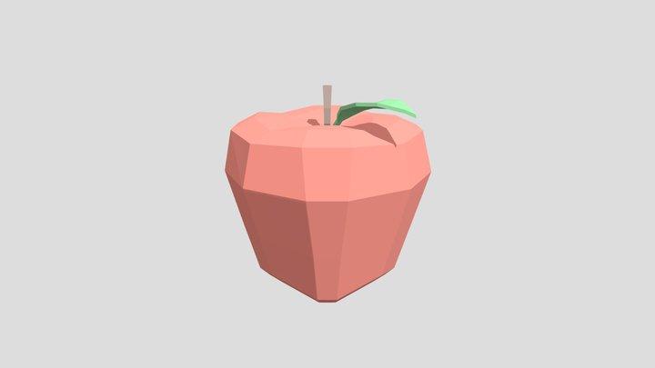 Apple - Low Poly 3D Model