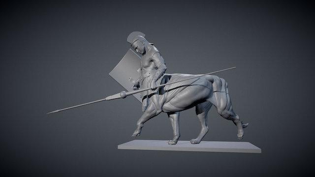 Roman Sphinx 3D Model