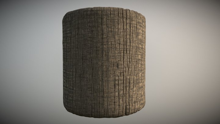 Palm Tree bark - scan based tiling texture 3D Model