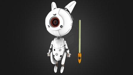 Little Bot Bunny 3D Model