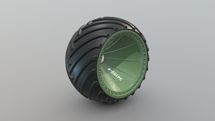 ZIL-Wheel Arched-New / ЗИЛ-Колесо Арочное 3D Model