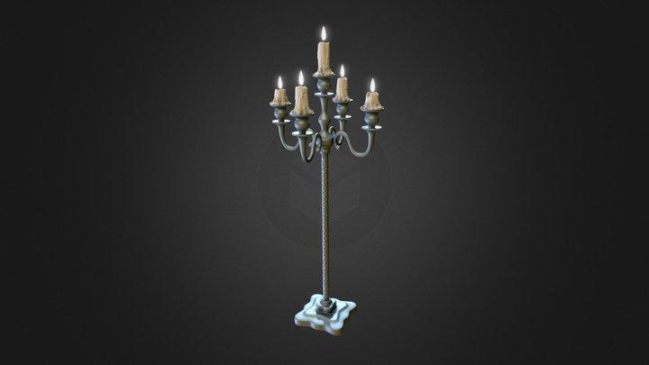 Candlestick (highpoly) 3D Model