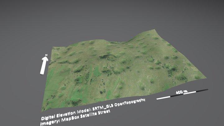 Bosnia Sinkhole Plain 3D Model