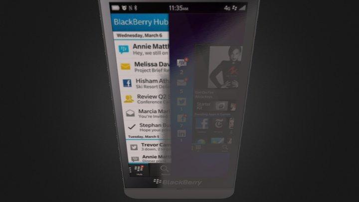 BlackBerry  Z10 Black (2).zip 3D Model