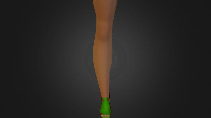 Summer Color Sandals 3D Model