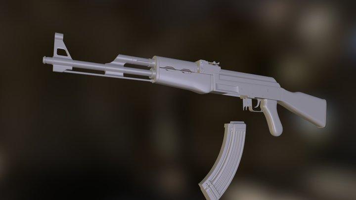 Edengrad AK47 High Poly 3D Model