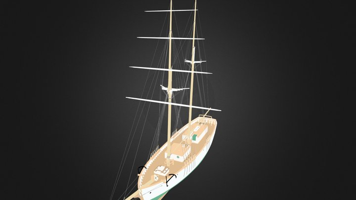 Matthew Turner Brigantine 3D Model