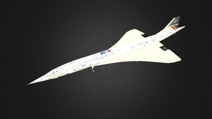 Concorde British Airways 3D Model