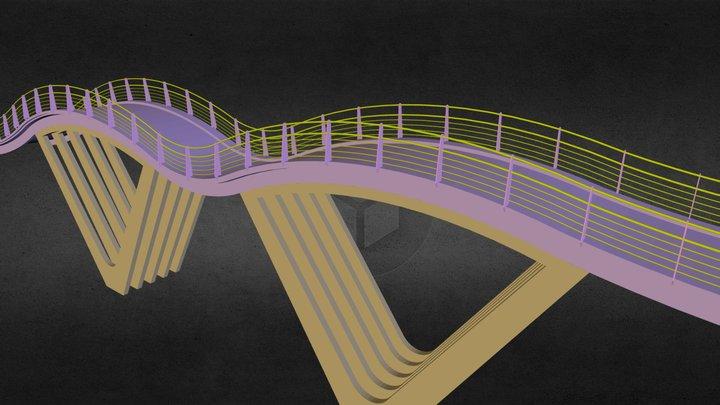Puente ondulante en AutoCAD 3D Model