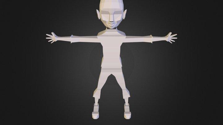 garota A 09Z.OBJ 3D Model