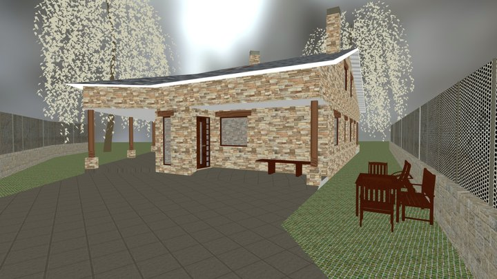Vivienda Unifamiliar aisada en León 3D Model