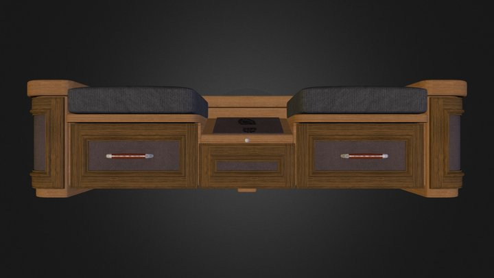 Shoe storage bench 3D Model