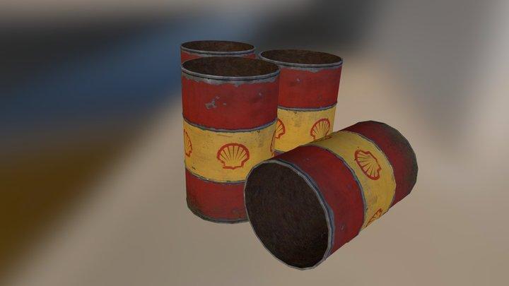 oil drum prop 3D Model