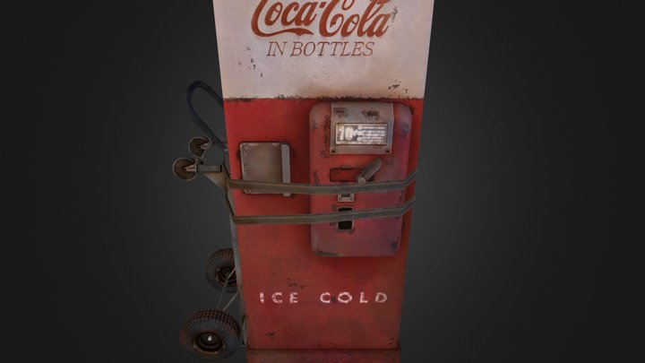 C-51 Cavalier Coke Machine 3D Model