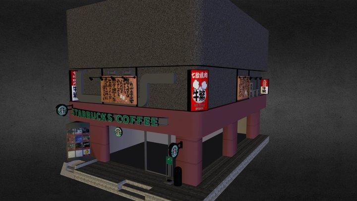 Starbucks in Shinjuku 3D Model