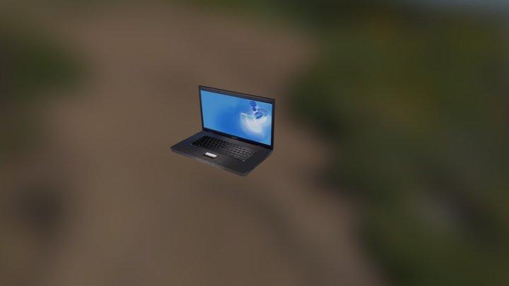 Laptop In City 3D Model