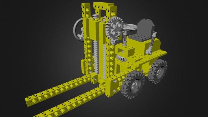 lego_950_forklift.blend 3D Model