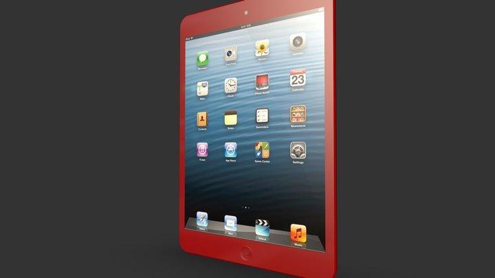 iPad Mini Red 3D Model