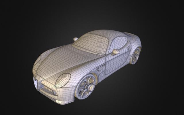 AlfaRomeo 8C Competizione 3D Model