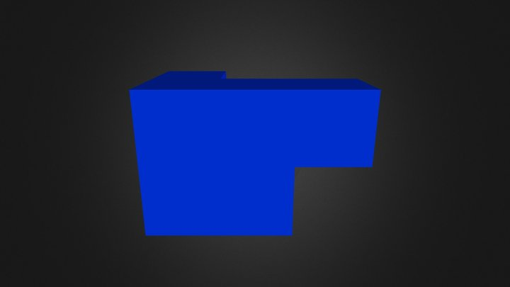 Blue Cube 3D Model
