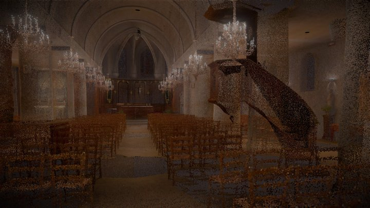 Nuage de points de l'église de Coupvray (77) 3D Model