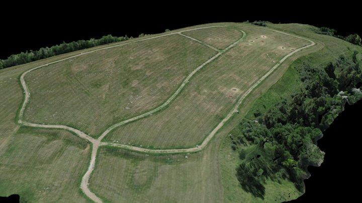 Chief Looking's Village (web) 3D Model