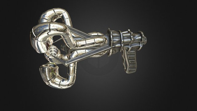 Alien Gun 3D Model