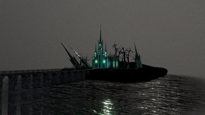 Green Gothic Church 3D Model