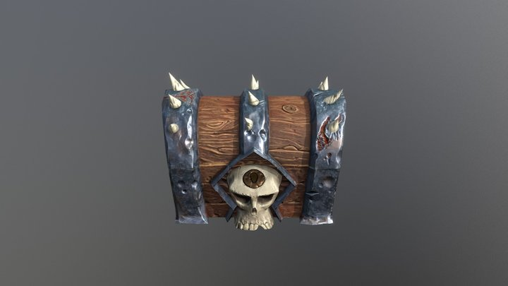 Skull Treasure Chest 3D Model