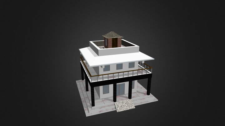 House | Low Poly - Game Ready 3D Model