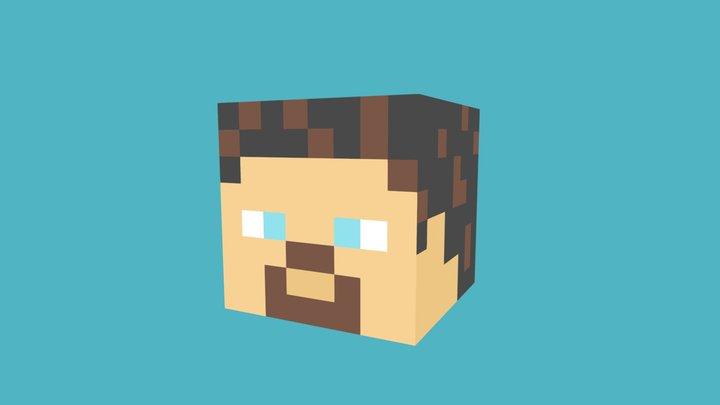 Minecraft Steve Head 3D Model