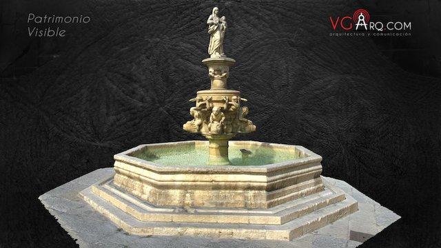 Fuente Sta María S.XVII Burgos 3D Model