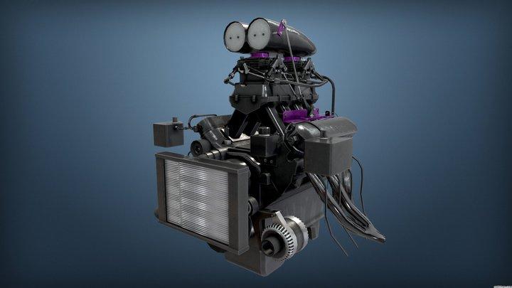 Burnout Masters Engine 3 3D Model