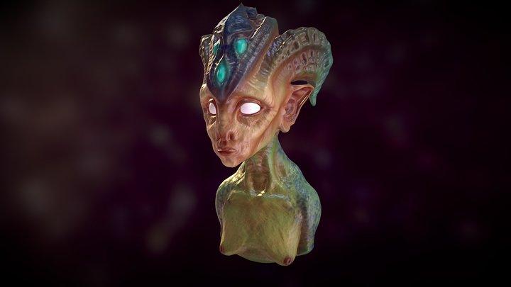 Alien Bust (WIP) 3D Model