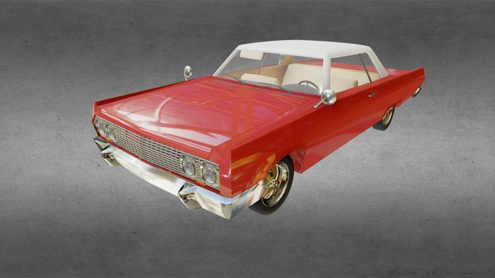 Chevrolet Impala 1963 - Home Work 7 (anatomy) 3D Model